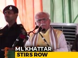"Video : Haryana Chief Minister's Bizarre ""Joke"" On Kashmiri Daughters-In-Law"