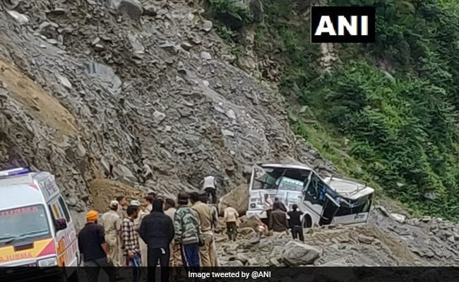 9 Killed, Several Trapped After Boulder Falls On Bus In Uttarakhand