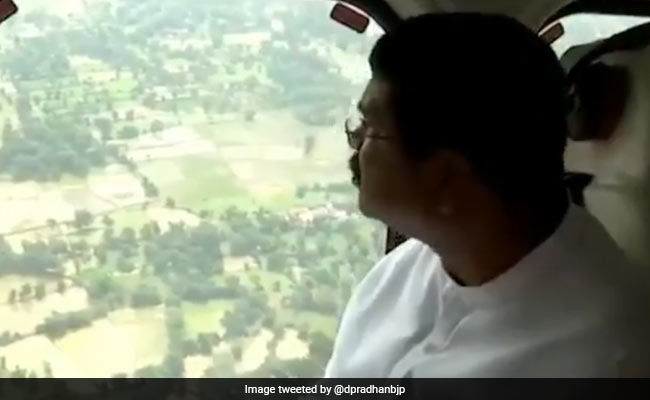 Dharmendra Pradhan Makes Aerial Survey Of Flood Hit Areas In Odisha