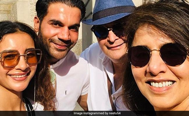 Rishi And Neetu Kapoor Met Rajkummar Rao, Patralekhaa 'Chalte Chalte' In New York
