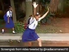 Nadia Comaneci Praises School Kids Performing Gymnastics Moves On Street