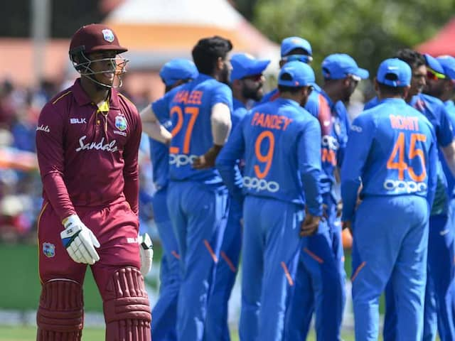 Live Cricket Score, WI vs IND 1st ODI Live Score Updates