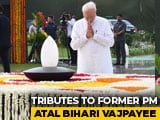 Video : President, PM Modi Pay Tribute To Vajpayee On His 1st Death Anniversary