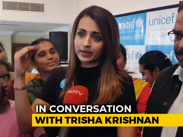 "Video : Plight Of Children In Jammu And Kashmir ""Worrying"": Actor Trisha Krishnan"