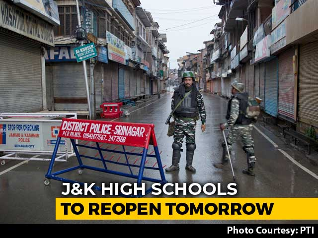 Video : J&K High Schools To Reopen Tomorrow In Areas Where Restrictions Removed