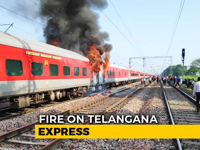 Video : Fire Breaks Out In Hyderabad-Delhi Telangana Express, Passengers Safe