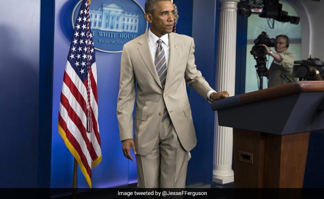 Obama Was Blasted For Wearing Tan Suit. Now, It's Used To Contrast Him With Trump