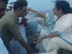 On Camera, IPS Officer Touches Mamata Banerjee's Feet After She Feeds Cake