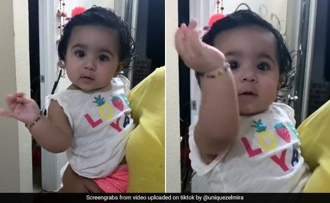 Tiktok Top 10 Baby Adorable Dance On Ghoomar Song Viral