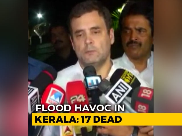 "Video : ""Will Reach Out To PM"": Rahul Gandhi On Floods In His Kerala Constituency"