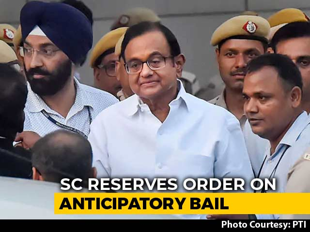 Video : Decision On P Chidambaram's Plea For Protection From Arrest Next Week