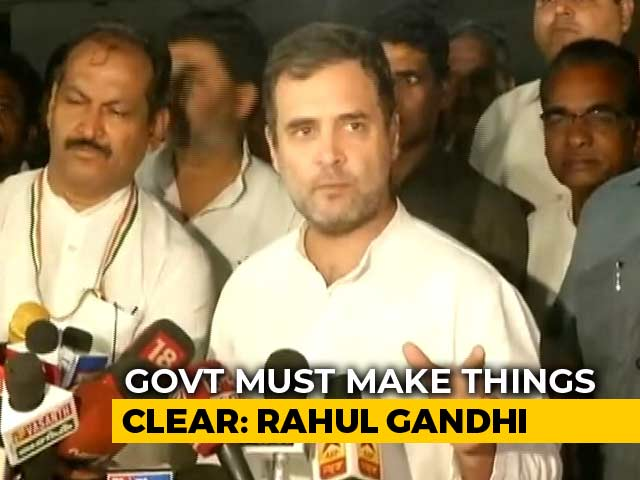 Video: Reports Of Violence In J&K, Centre Must Come Clean, Says Rahul Gandhi