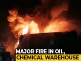 Video : Hundreds Of Oil Drums Catch Fire At Warehouse In Greater Noida
