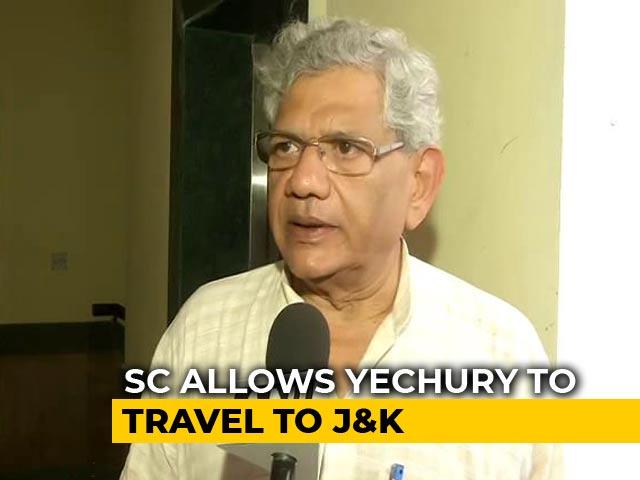 Video : Sitaram Yechury, Kashmiri Student Allowed By Supreme Court To Go To J&K