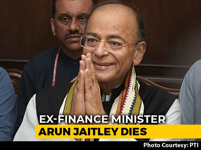 Video : BJP Leaders Mourn Former Union Minister Arun Jaitley's Death