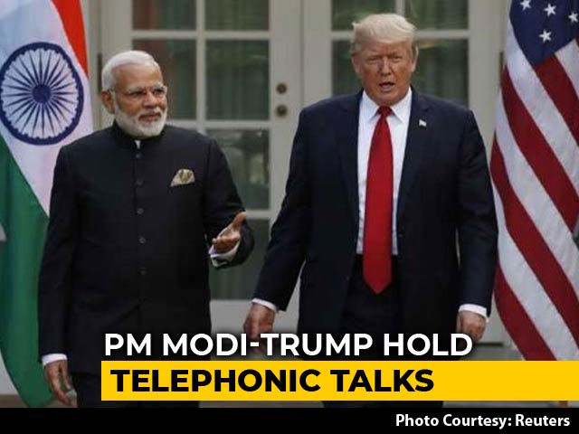 "Video : PM Speaks To Donald Trump, Flags ""Extreme Rhetoric By Regional Leaders"""