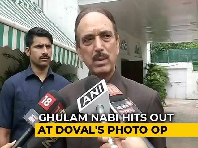"""Video : """"Can Buy Anyone"""": Ghulam Nabi Azad Stirs Row With Comment On Ajit Doval"""