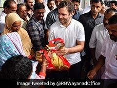 Rahul Gandhi Visits Flood-Hit Constituency Wayanad, Seeks Aid From State