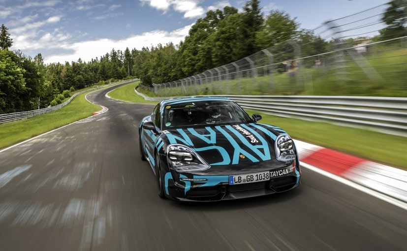 Image result for Porsche Taycan Is The Fastest Four Door EV To Lap The Nurburgring