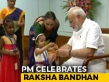 Video : Children, Women Tie Rakhi To PM Modi On Raksha Bandhan