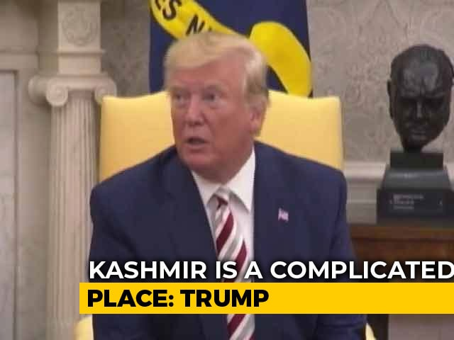 "Video : Watch: Trump Says ""Kashmir Situation Explosive"", Will Do His Best To Mediate"