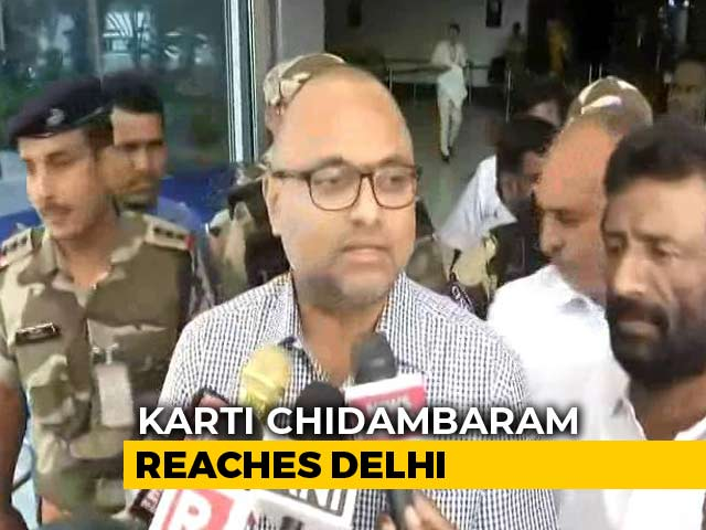 "Video : ""Attempt To Silence P Chidambaram,"" Says Son Karti On Father's Arrest"