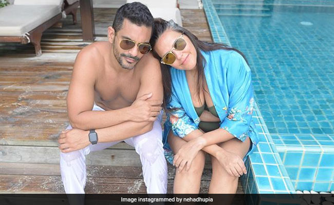 Neha Dhupia, In Holiday Mood, Describes Angad Bedi As 'Best Headrest'