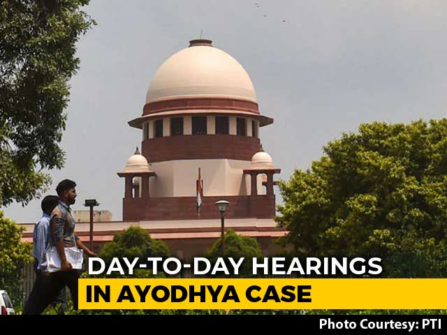 Video : Supreme Court Begins Daily Hearings On Ayodhya Title Suit