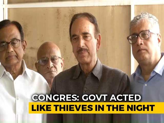 """Video : On J&K, Ghulam Nabi Azad Flings Back """"<i>Tukde Tukde</i>"""" Accusation At Centre"""