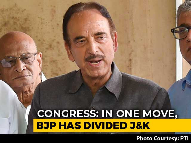 """Video : """"What About China, Pak"""": Ghulam Nabi Azad Cites Strategic Issues On J&K"""