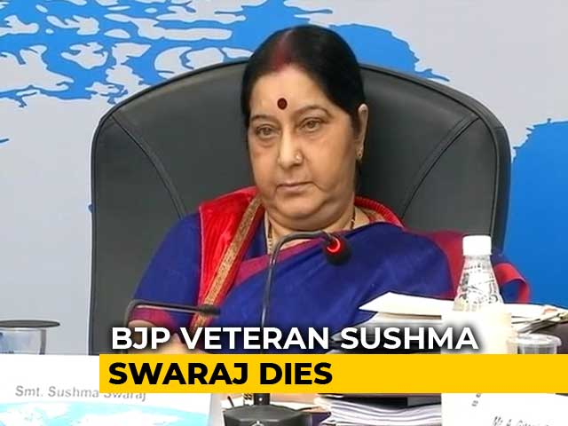 Video : Sushma Swaraj, BJP Veteran And Former Foreign Minister, Dies At 67
