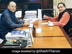 """We First Met When...."": Shashi Tharoor Remembers Arun Jaitley"