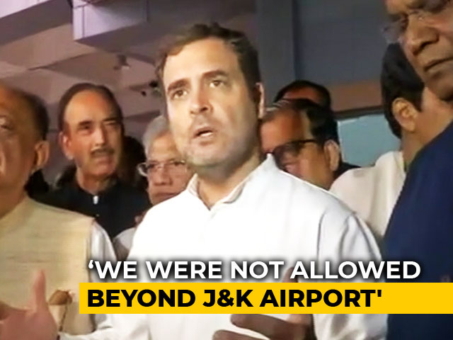 "Video : ""Things Not Normal In J&K"": Rahul Gandhi On Being Sent Back From Srinagar"