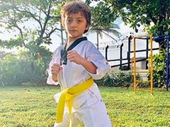 AbRam Is The Cutest Taekwondo Student In Shah Rukh Khan's Post On 'Family Tradition'