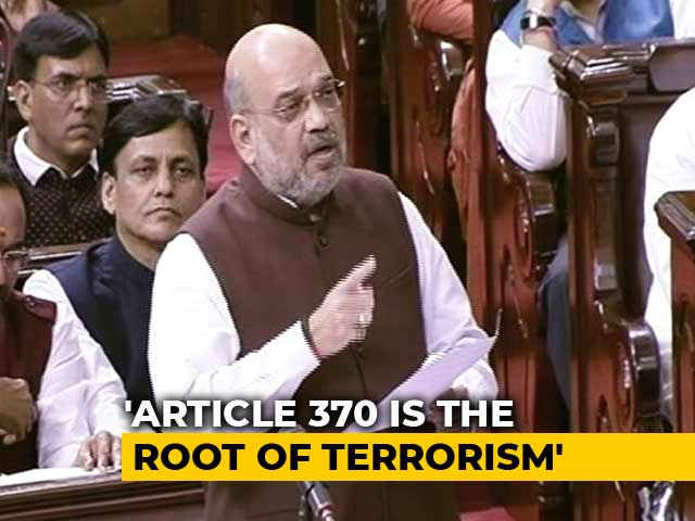 Video : Article 370 Is The Genesis Of Terrorism, Says Amit Shah