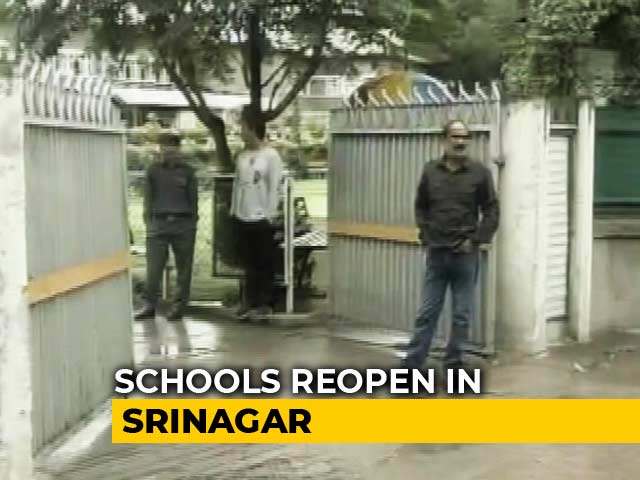 Video : Srinagar Schools Reopen To Low Attendance