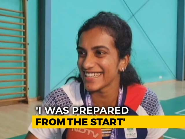 """Video : """"I Thought Of Giving My Best In The Final,"""" Says World Champion PV Sindhu"""