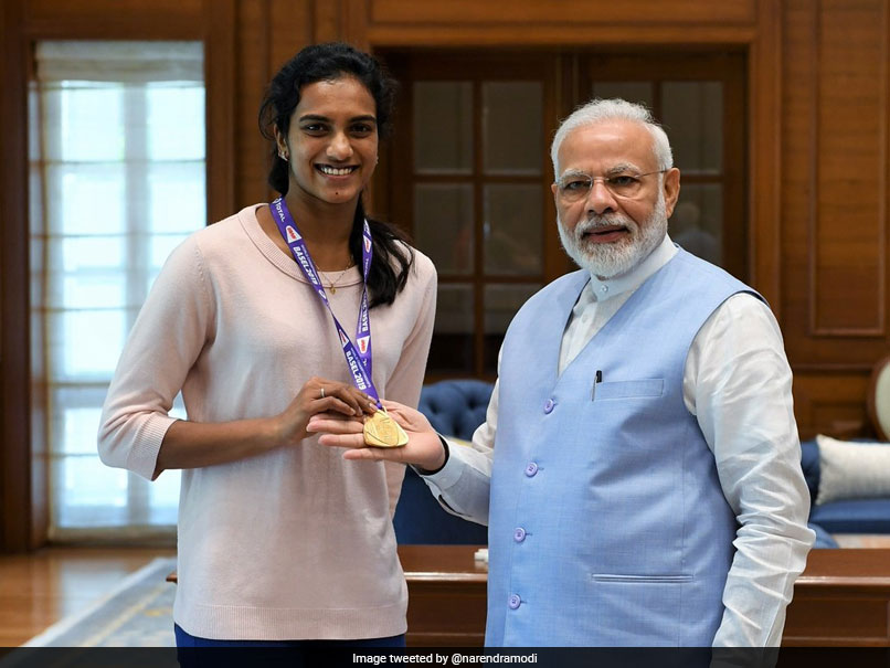 "PM Narendra Modi Meets World Champion PV Sindhu, Calls Her ""India"
