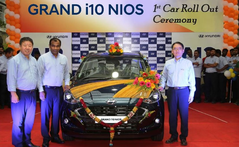 S S Kim, MD & CEO, Hyundai Motor India at the roll out of the Grand i10 Nios