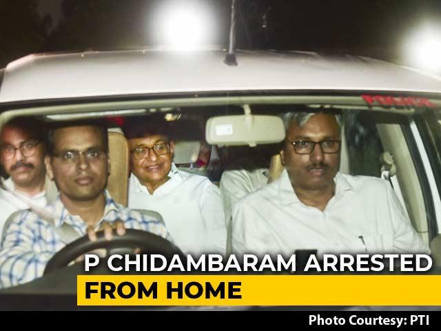 Video : P Chidambaram Arrested In INX Media Case Amid High Drama