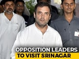 Video : As Opposition Leaders Head To Srinagar, Government Says Stay Away