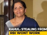 """Video: """"Outlandish"""": Finance Minister Dismisses Criticism Of RBI Payout"""