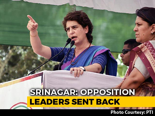 "Video : ""Nothing More Anti-National Than..."": Priyanka Gandhi Slams Centre On J&K"