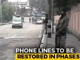 Video : Landlines, Mobile Internet Partially Restored In Jammu And Kashmir