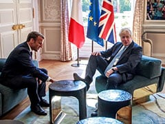 UK's Boris Johnson Puts His Feet Up In French President Macron's Palace
