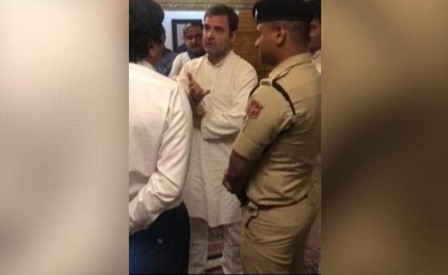 Video Shows Rahul Gandhi Co Negotiating With Srinagar Airport Officials