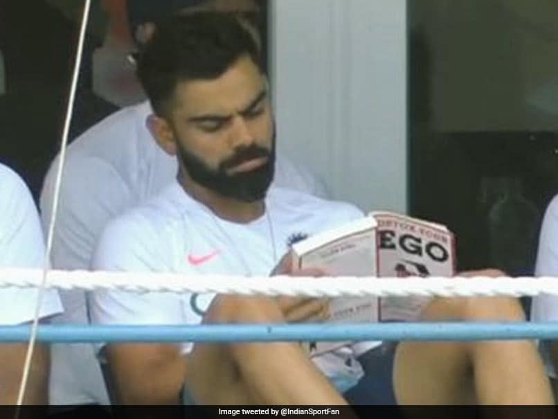 "Virat Kohli Reading ""Detox Your Ego"" During 1st Test Sends Twitter Into A Frenzy"