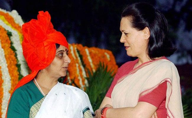 'Feel Her Loss Greatly', Sonia Gandhi Writes To Sushma Swaraj's Husband