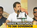 "Video : ""Need Freedom To Travel, Not Plane"": Rahul Gandhi's RSVP To J&K Governor"