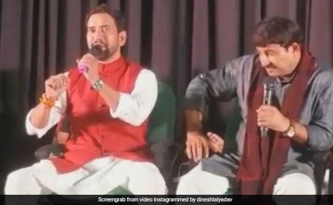 JNU कैंपस में मनोज तिवारी संग निरहुआ ने गाया 'जुगल जोड़ी', वायरल हुआ धांसू Video